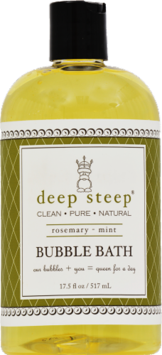 Deep Steep Rosemary Mint Bubble Bath Perspective: front