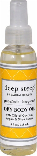 Deep Steep  Dry Body Oil Grapefruit Bergamot Perspective: front