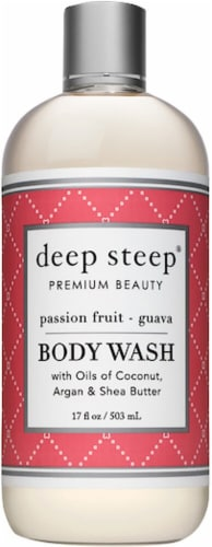 Deep Steep  Body Wash Passion Fruit Guava Perspective: front