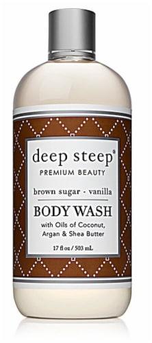 Deep Steep  Body Wash Brown Sugar-Vanilla Perspective: front
