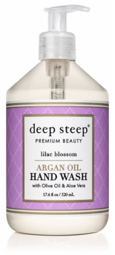 Deep Steep Argan Oil Hand Wash with Olive Oil & Aloe Vera Lilac Blossom Perspective: front