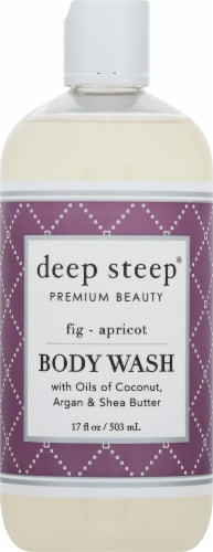 Deep Steep Fig & Apricot Body Wash Perspective: front