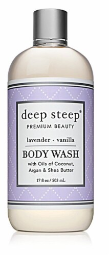 Deep Steep Lavender - Vanilla Body Wash Perspective: front