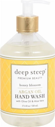 Deep Steep Argan Oil Hand Wash Honey Blossom Perspective: front