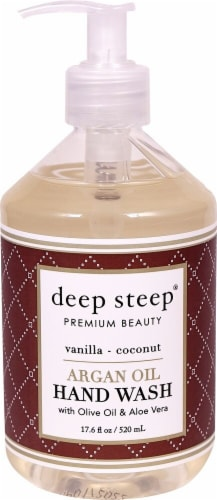 Deep Steep Vanilla Coconut Argan Oil Hand Wash Perspective: front