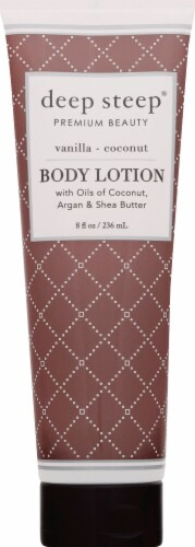 Deep Steep Vanilla Coconut Body Lotion Perspective: front