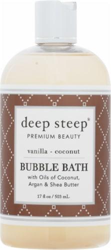 Deep Steep  Coconut Oil Bubble Bath Vanilla Coconut Perspective: front
