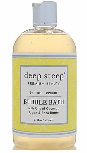 Deep Steep  Bubble Bath Lemon Cream Perspective: front