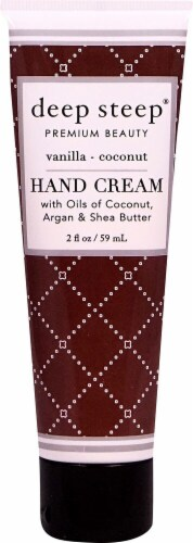 Deep Steep Vanilla Coconut Hand Cream Perspective: front