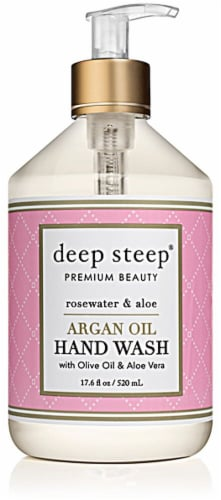 Deep Steep Argan Oil Hand Wash Rosewater & Aloe Perspective: front