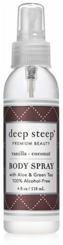 Deep Steep Vanilla Coconut Body Spray Perspective: front