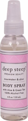Deep Steep Fresh Rosewater & Aloe Body Spray Perspective: front