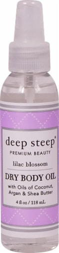Deep Steep  Dry Body Oil Lilac Blossom Perspective: front