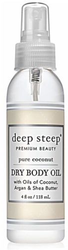 Deep Steep Pure Coconut Dry Body Oil Perspective: front