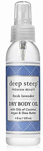 Deep Steep Fresh Lavendar Dry Body Oil Perspective: front