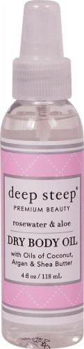 Deep Steep Rosewater & Aloe Dry Body Oil Perspective: front