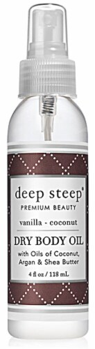 Deep Steep  Dry Body Oil - Vanilla Coconut Perspective: front