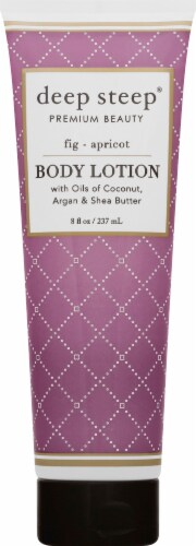 Deep Steep Fig & Apricot Body Lotion Perspective: front