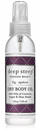 Deep Steep Fig Apricot Dry Body Oil Perspective: front