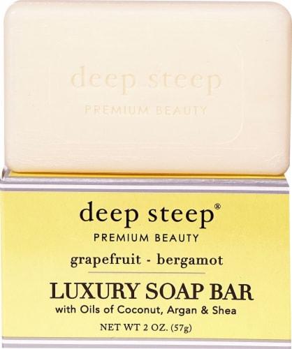 Deep Steep Grapefruit & Bergamot Luxury Soap Bar Perspective: front