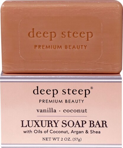Deep Steep Vanilla & Coconut Luxury Soap Bar Perspective: front