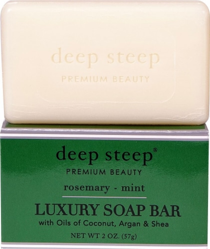 Deep Steep Rosemary & Mint Luxury Soap Bar Perspective: front