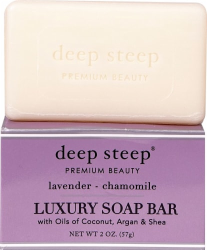 Deep Steep Lavender & Chamomile Luxury Soap Bar Perspective: front