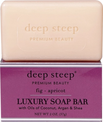 Deep Steep Fig & Apricot Luxury Soap Bar Perspective: front