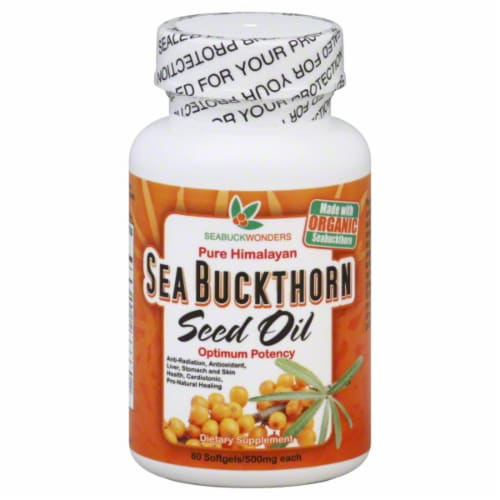 Seabuckwonders Sea Buckthorn Seed Oil Perspective: front