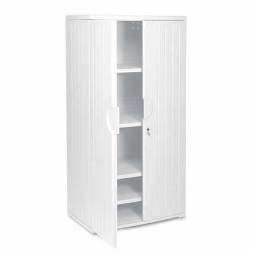 Iceberg Storage Cabinet,HDPE,Platinum,72 In Perspective: front