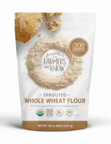 One Degree Organic Foods Sprouted Whole Wheat Flour Perspective: front