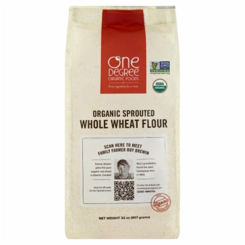 One Degree Organic Foods Flour Sprouted Whole Wheat Perspective: front