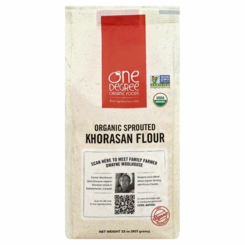 One Degree Organic Foods Flour Sprouted Khorasan Perspective: front