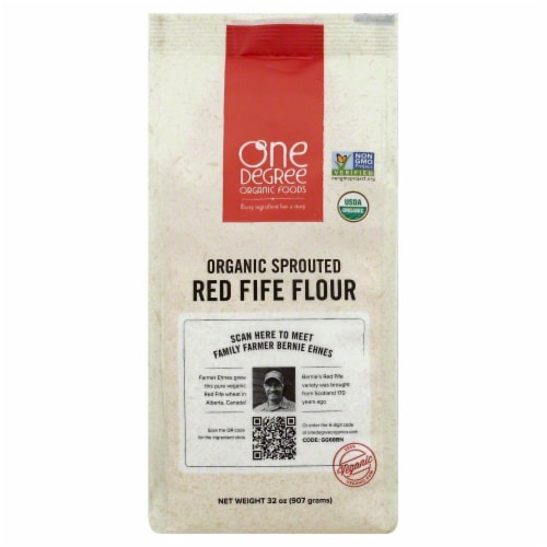 One Degree Organic Foods Flour Sprouted Red Fife Perspective: front