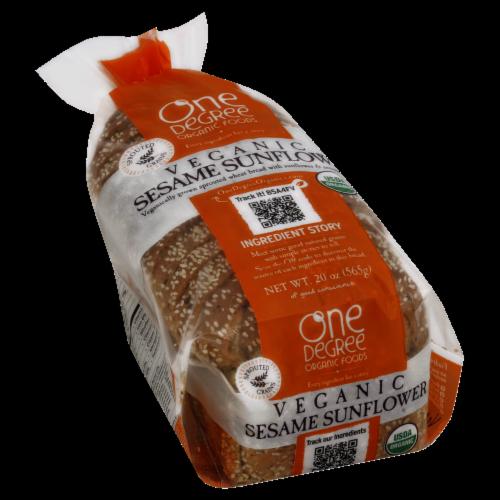 One Degree Organic Foods Veganic Sesame Sunflower Bread Perspective: front