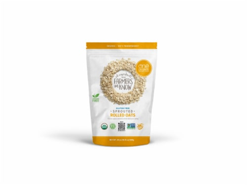 One Degree Organic Foods Sprouted Rolled Oats Perspective: front