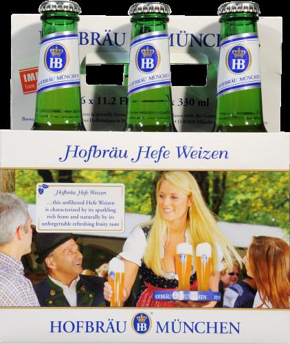 Hofbrauhaus Weissbier Hefe Weizen Perspective: front