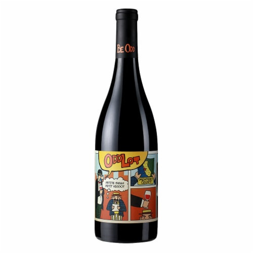 Odd Lot Petite Sirah-Petit Verdot Red Blend Perspective: front