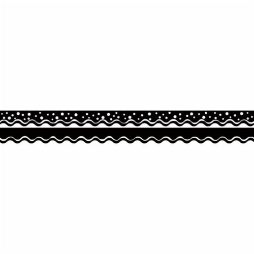 (6 PK) HAPPY BLACK BORDER DOUBLE Perspective: front