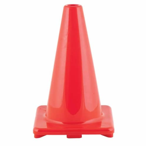 Champion Sports CHSC12ORBN 12 in. Flexible Vinyl Cone, Orange - Pack of 3 Perspective: front