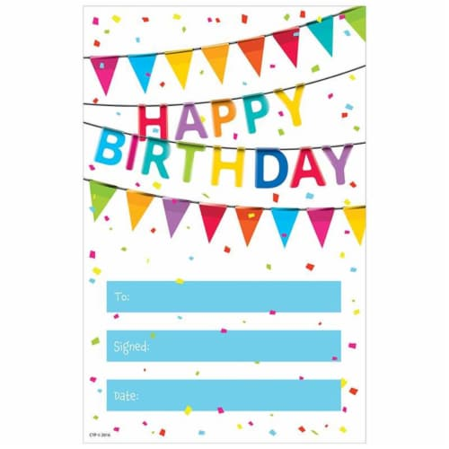 Creative Teaching Press CTP1313BN Happy Birthday Award Painted Palette - Pack of 6 Perspective: front