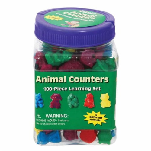 Eureka EU-867470BN Animal Counters Tubbed - Pack of 3 Perspective: front