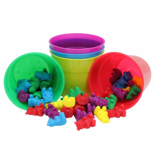 Eureka EU-864040BN Counting Bear Cups, 50 per Count - Cups of 5 Perspective: front