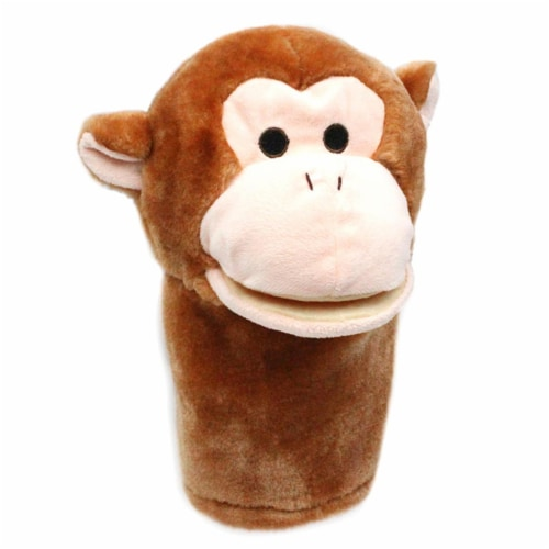 Get Ready Kids MTB210BN Plushpups Hand Puppet Monkey Toy - Pack of 2 Perspective: front