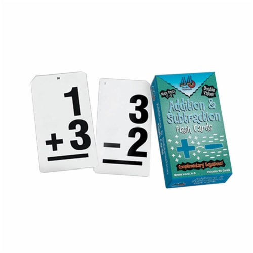 Learning Advantage Addition Subtraction Double Value Vertical Flash Cards - Pack of 3 Perspective: front