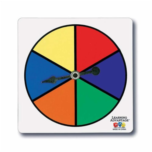 Learning Advantage CTU7354BN Six Color Spinners Per Set, Set of 6 Perspective: front