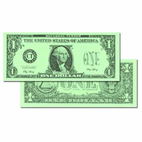 Learning Advantage CTU7514BN Dollar 1 Bill Set - Set of 100 Perspective: front