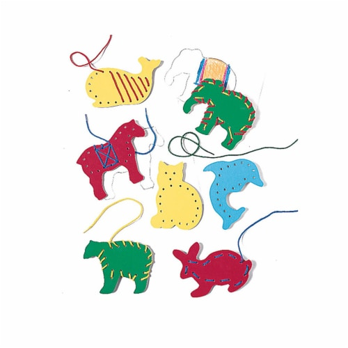 PlayMonster LR-2562BN Lauri Lacing & Tracing Animals for Ages 3-7 - 3 Each - Pack of 7 Perspective: front