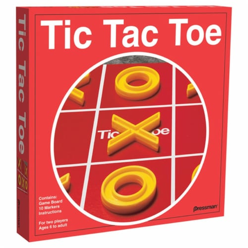 Pressman Toys PRE150512BN Tic Tac Toe Classic Game - Pack of 6 Perspective: front