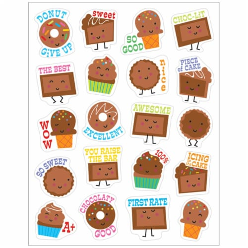 Eureka EU-650944BN Chocolate Scented Stickers - Pack of 12 Perspective: front